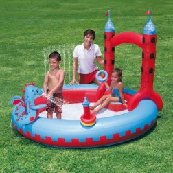 Interactive Castle Play Pool 221x193x150
