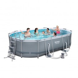 Power Steel Ovale Piscine 488 x 305 x 107cm