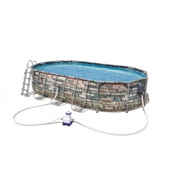 Oval Piscine Set Jet Series  6.10m x3.66m x1.22m