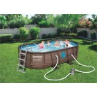 Oval Piscine Set Swim Vista 427x250x100cm