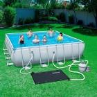tapis de piscine alimenté par énergie solaire